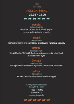 polední menu - Gran Fierro