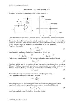obvody pro kapacitní a induktivní snímače polohy