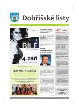 září 2016 - Dobříšské listy