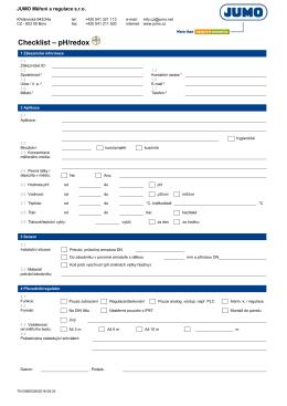 Checklist – pH/redox