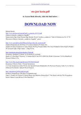 oto jest kasia pdf