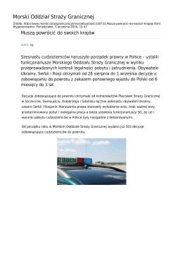 Generuj PDF z tej stronie - Straż Graniczna Morski Oddział Straży