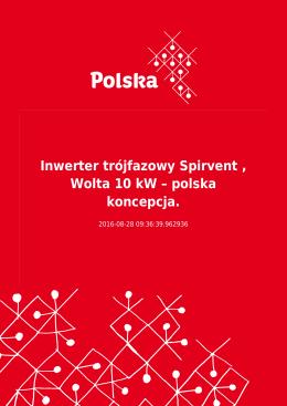 Inwerter trójfazowy Spirvent , Wolta 10 kW – polska koncepcja.