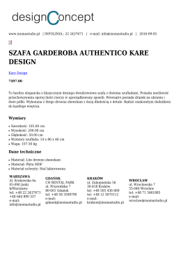 szafa garderoba authentico kare design