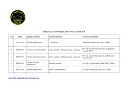 Kalendarz zawodów Płoć Warka 2016(2)