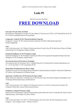 LODZ PL | Free eBook PDF