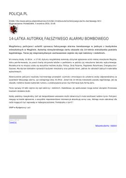 policja.pl 14-latka autorką fałszywego alarmu bombowego