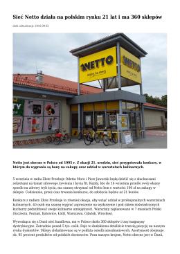 21 lat Netto na polskim rynku