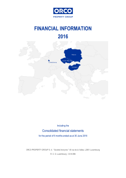 FINANCIAL INFORMATION 2016