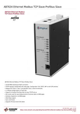 AB7634 Ethernet Modbus TCP Slave