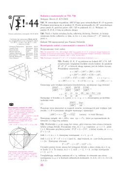 Zadania z matematyki nr 725, 726 Redaguje Marcin E. KUCZMA