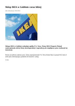 Sklep IKEA w Lublinie coraz bliżej