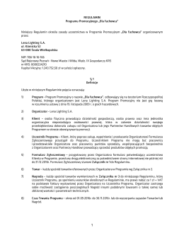 Regulamin promocji PDF