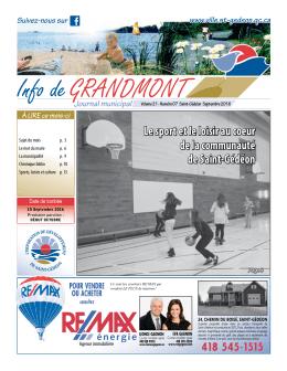 Info de GRANDMONT - Saint