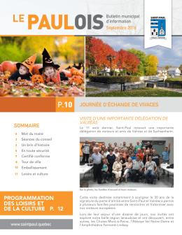 Le Paulois - septembre 2016 - Municipalité de Saint-Paul