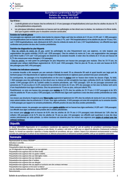 Bulletin national d`information OSCOUR du 30 août 2016