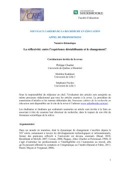 NCRE_Chaubet-Kaddouri-Fischer_Appel a contributions