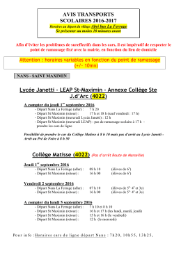 avis transports scolaires