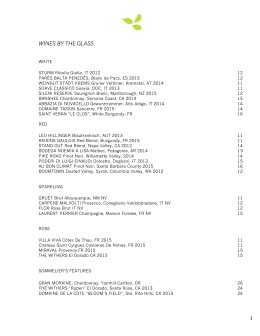 Wine List - Elm Restaurant