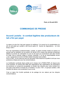 Accord Lactalis