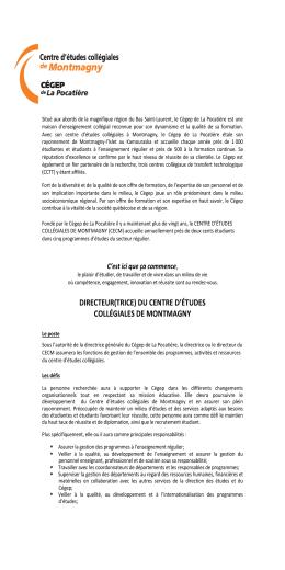 centre d`études collégiales de montmagny