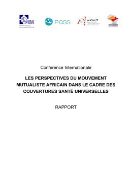 Conférence Internationale LES PERSPECTIVES DU MOUVEMENT
