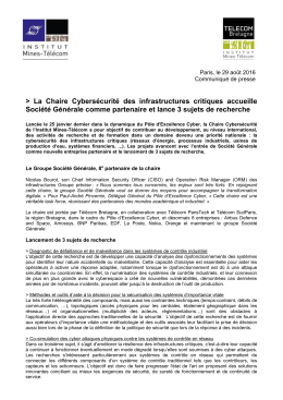 communiqué de presse au format PDF - Institut Mines