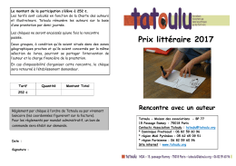 bulletin d`inscription Auteurs 2016-2017
