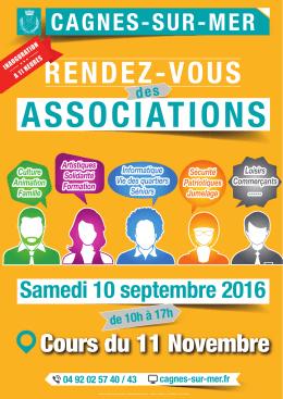 RENDEZ-VOUS DES ASSOCIATIONS A4 - Cagnes-sur-Mer