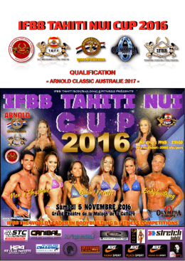 inspection report ifbb tahiti nui cup 2016