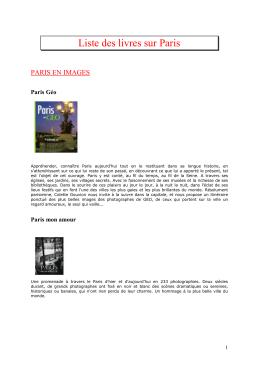 Liste des livres sur Paris