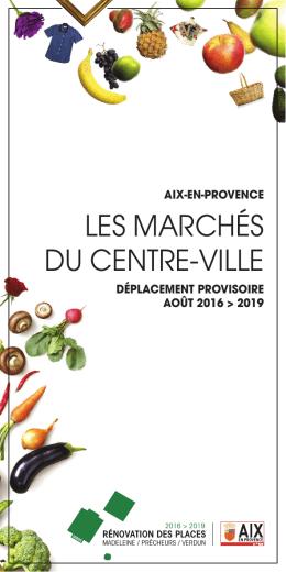 Plan des marchés 2016-2019 - Office de Tourisme d`Aix-en