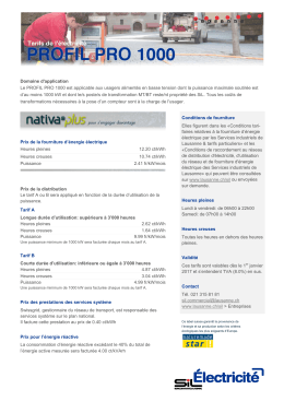 PROFIL PRO 1000 nativaPlus