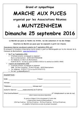 MARCHE AUX PUCES à MUNTZENHEIM Dimanche 25 septembre