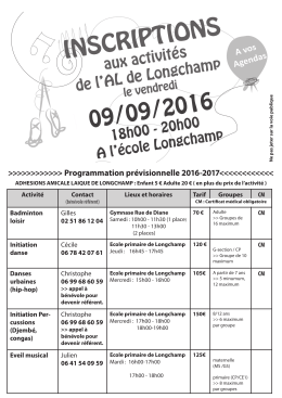Version en PDF - Amicale Laïque Longchamp