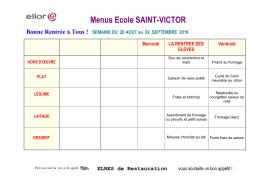 menus septembre 2016 - Ecole Saint