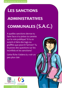Les sanctions administratives communales