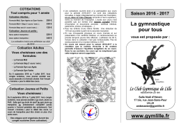 tarifs et conditions - club gymnique de lille