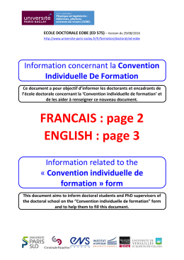 Convention individuelle de formation