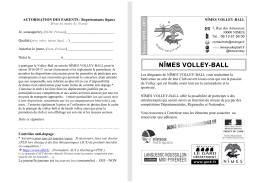 Formulaire 2016 - Nimes Volley Ball