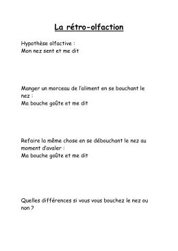 La rétro-olfaction - DRAAF Aquitaine-Limousin-Poitou