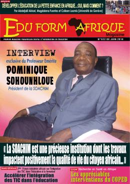 REPORTAGE La - eduform afrique