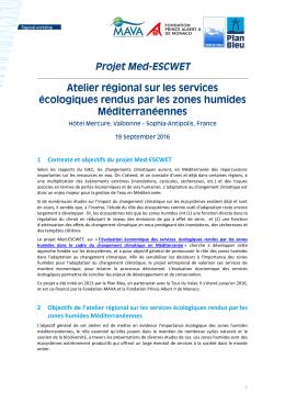 1 Contexte et objectifs du projet Med-ESCWET 2