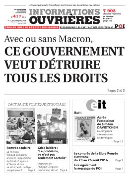 Avec ou sans Macron - POI Comité de Vitrolles