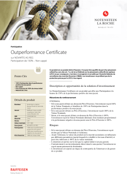 Outperformance Certificate