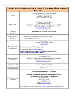 Prestations de missions intérimaires 26/08/2016