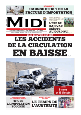 les accidents de la circulation