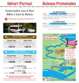 Bateaux Promenades Départ Portout