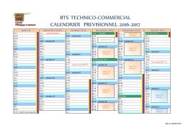 le calendrier prévisonnel de la section TC pour - btstc
