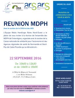 reunion mdph - Agences Régionales de Santé: Normandie